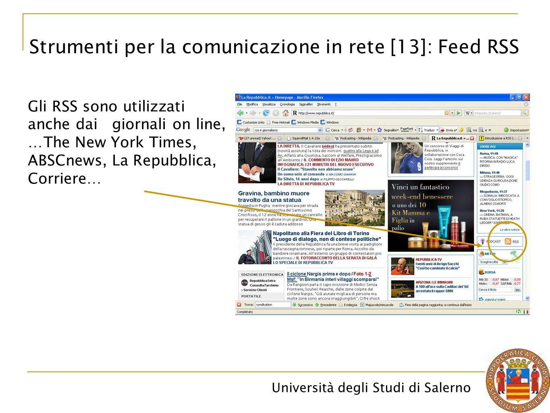 Strumenti per la comunicazione in rete [13]: Feed RSS